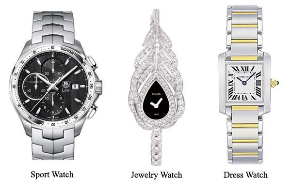 different style of lady's watch