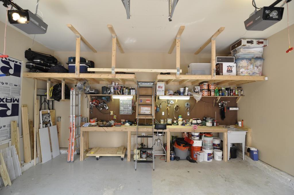 diy industrial rack for small basement