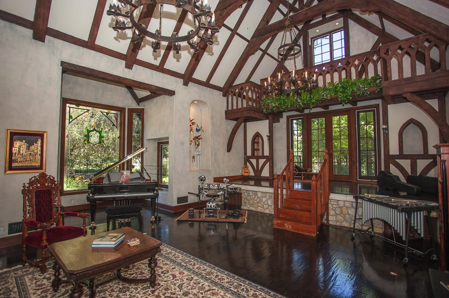 exclusive expensive interior photo of an English Tudor home