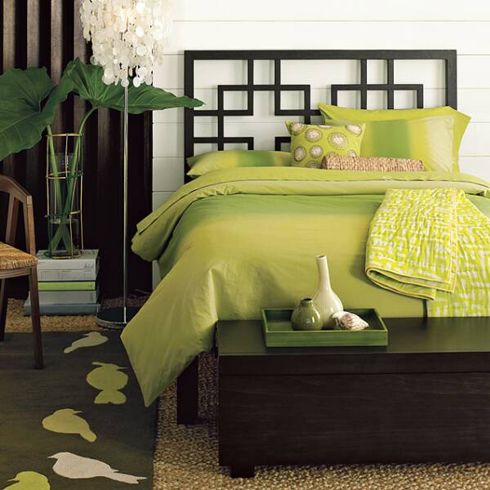 green bedroom making a harmony living space