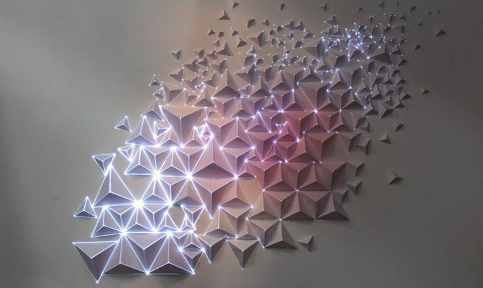 light art projection showing like a galaxy