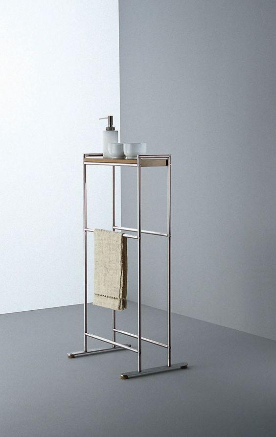 minimal standalone bathroom rack