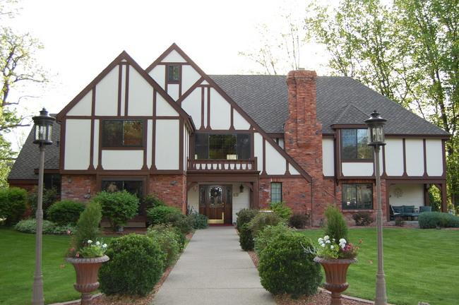 modern English Tudor big house