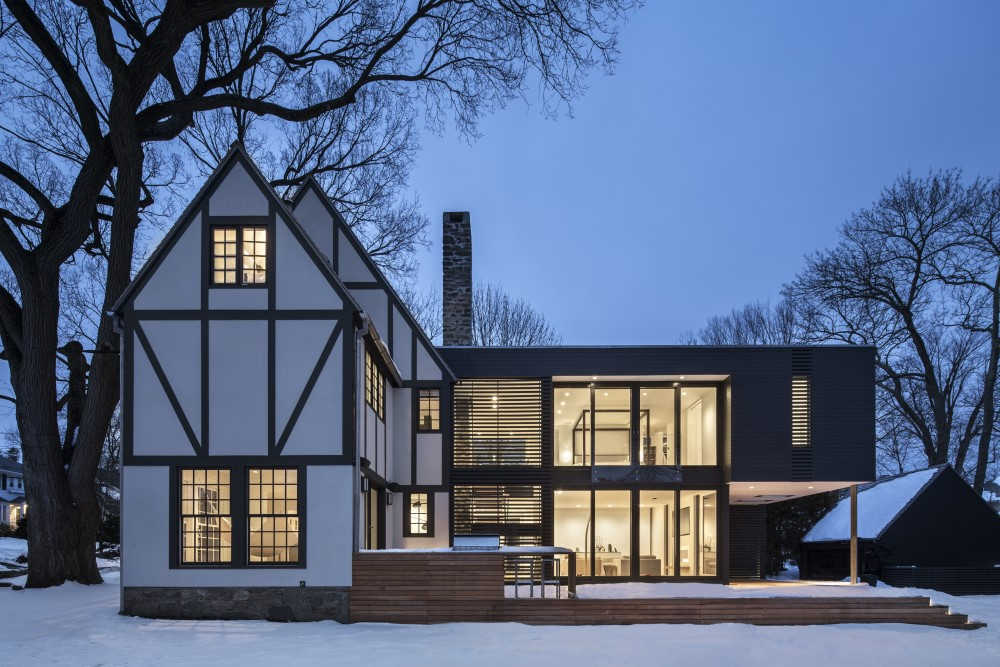modernize tudor style residence in New York by Joeb Moore