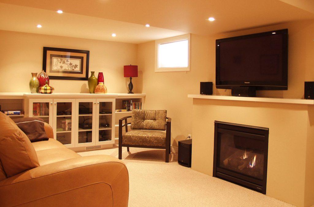 small basement bright color ideas