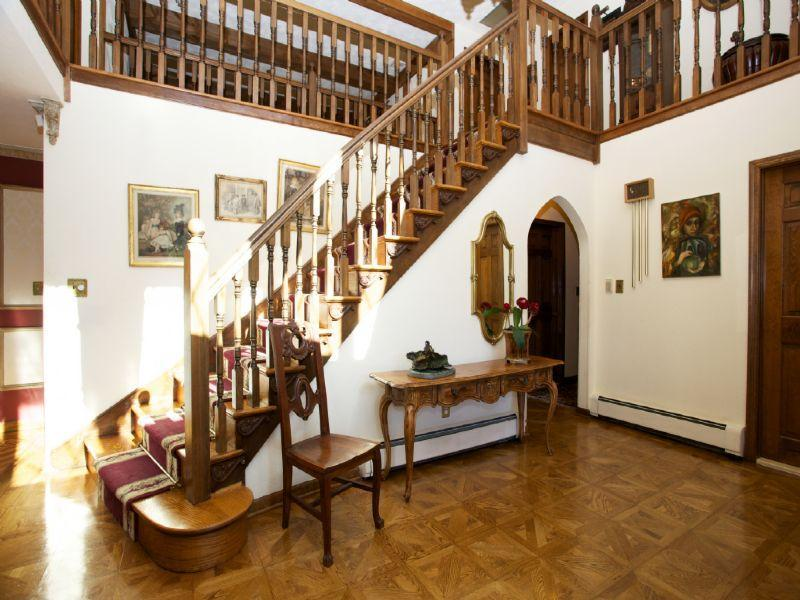 staircase in a tudor home in New York