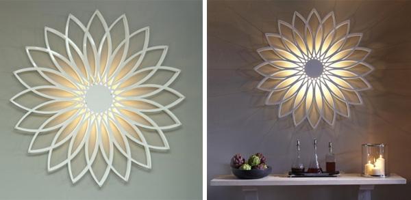 sun flower wall light sculpture