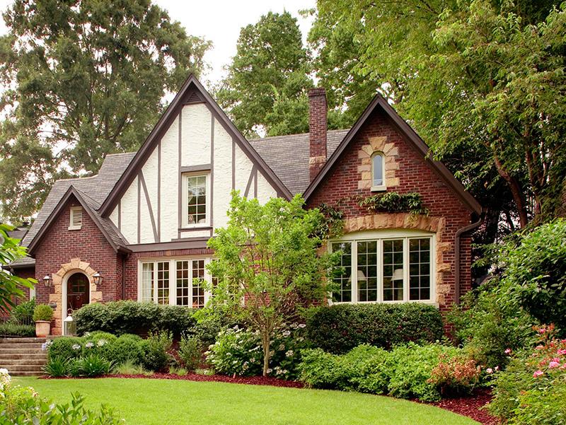 traditional modern English Tudor home in California