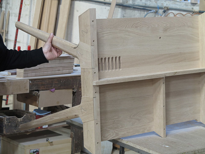 work in progress METIS desk without the top wooden plank