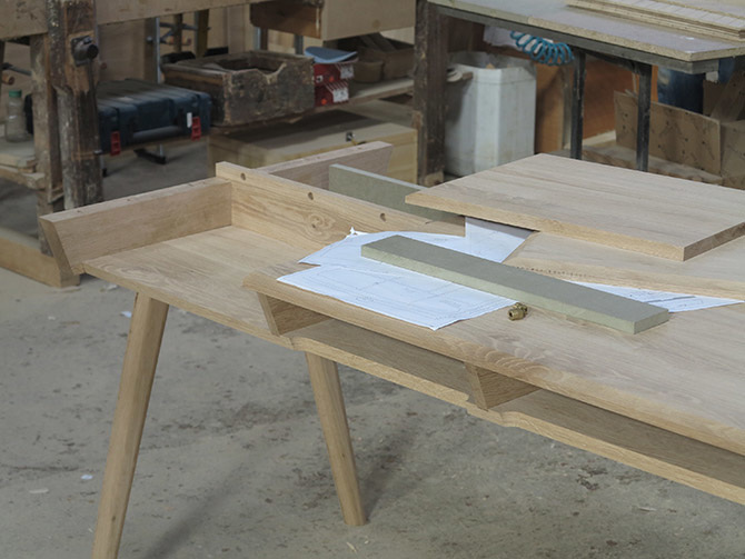 work in progress metis desk 80 percent completed