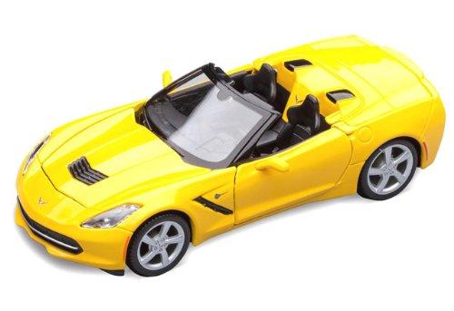yellow C7 convertible diecast model car