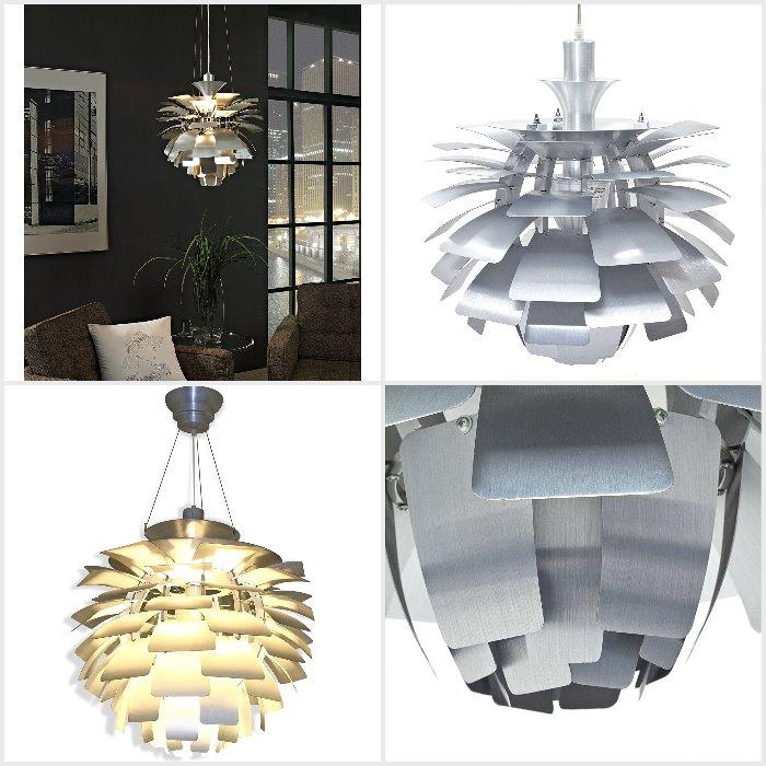 Iconic Danish Mid Modern Chandelier made from Aluminium