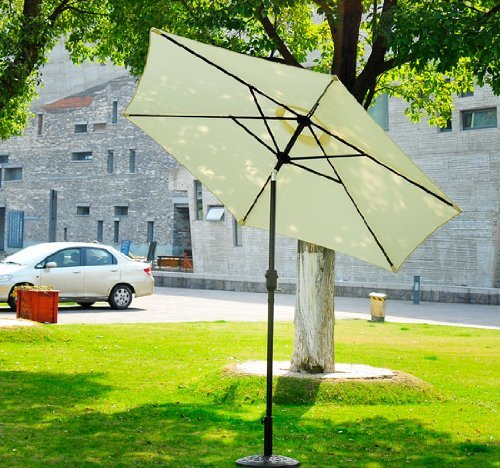 Outsunny Outdoor Aluminum Patio Market Umbrella with Tilt