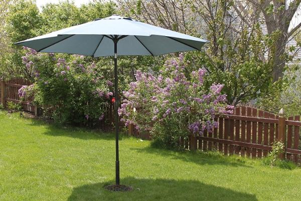Pebble Lane Living Slate Denim Patio Umbrella