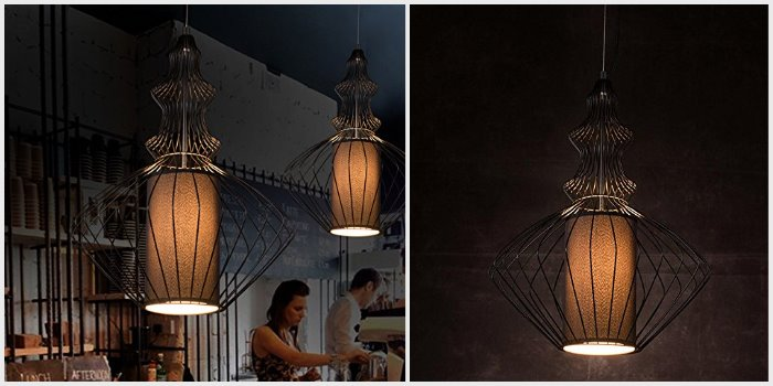 Rare Scandinavian vintage design pendant lamp