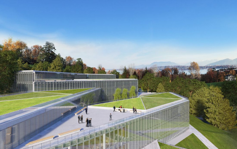 artist impression of the new SHP of UN at Geneva