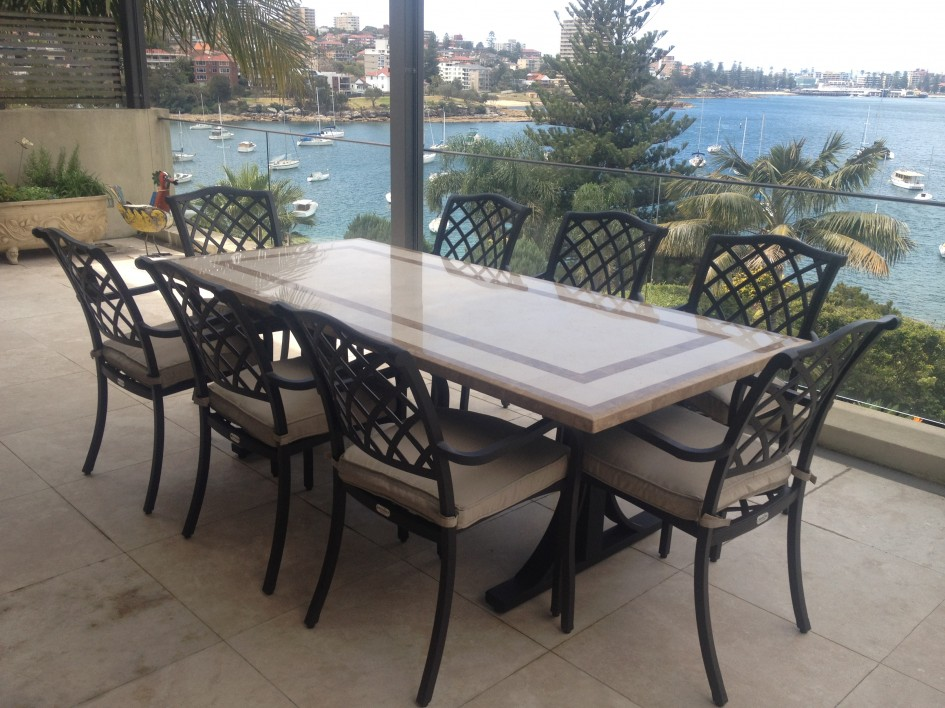 modern rectangular patio dining table