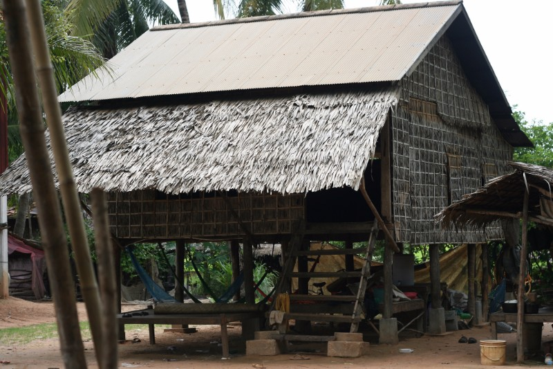 cambodian traditional house in a village