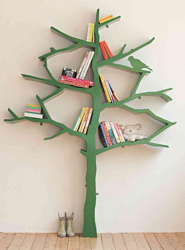 green tree bookshelf for children bedroom