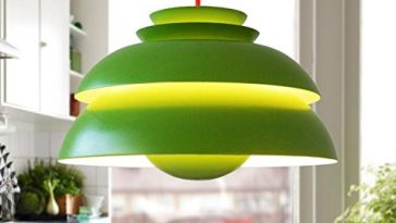 green vintage danish pendant light for dining room