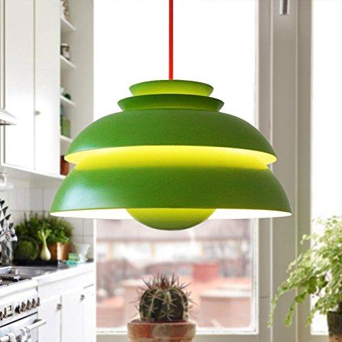 green vintage danish pendant light for dining room