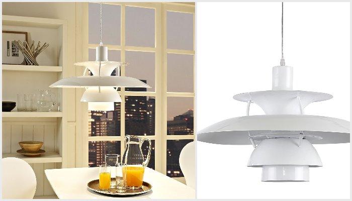 modern white vintage danish ceilling light