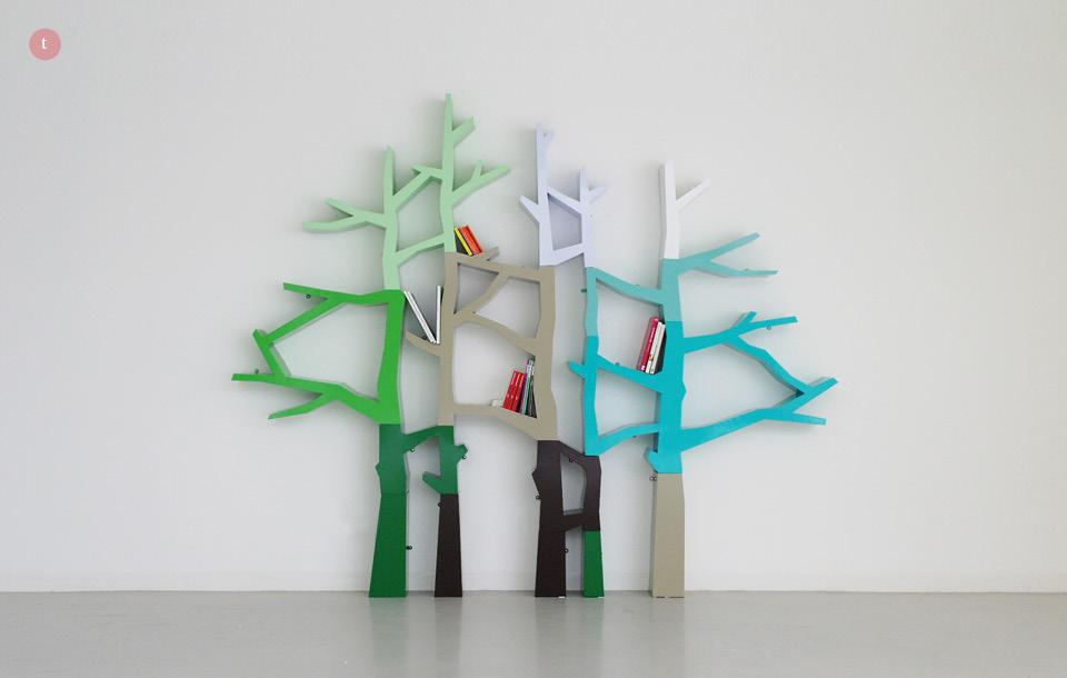 nursery tree shaped bookshelves multiple colors