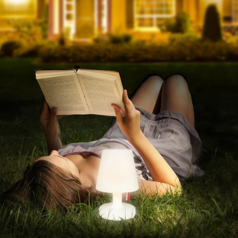 outdoor fatboy transparent lamp for reading book