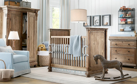 rocking horse for baby boy room decorative ideas