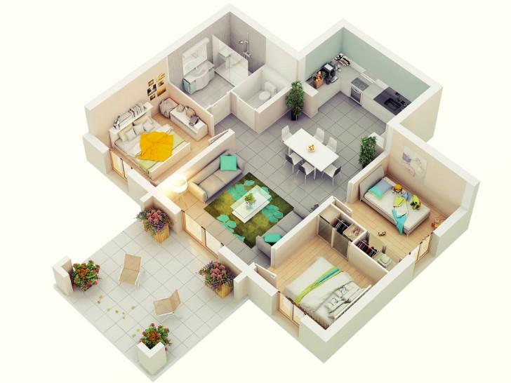7 Best 3 Bedroom House Plans In 3d You Can Copy,Tiling A Kitchen Backsplash Do It Yourself