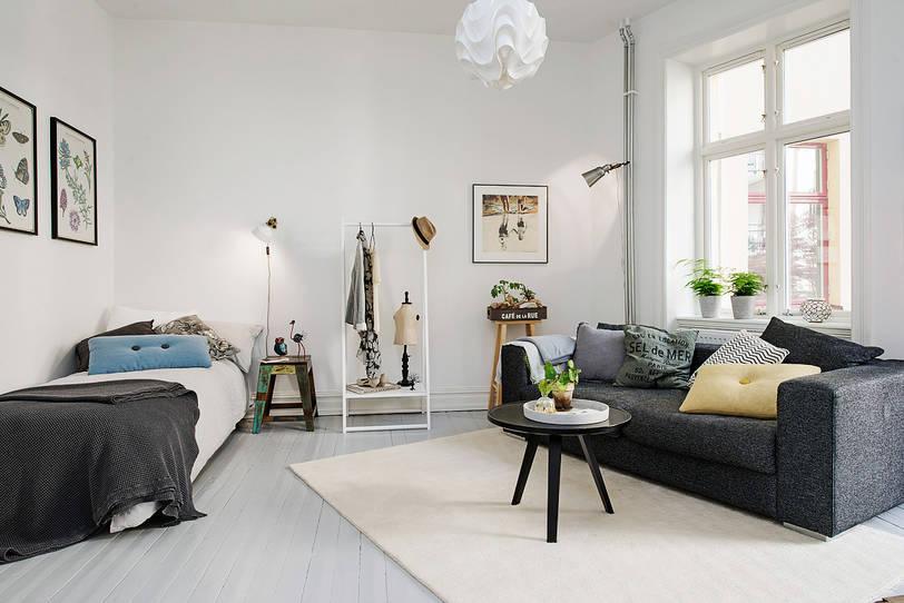 small living room furniture arrangment for studio apartment