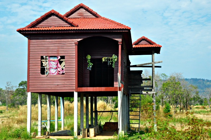 stick leg cambodian house