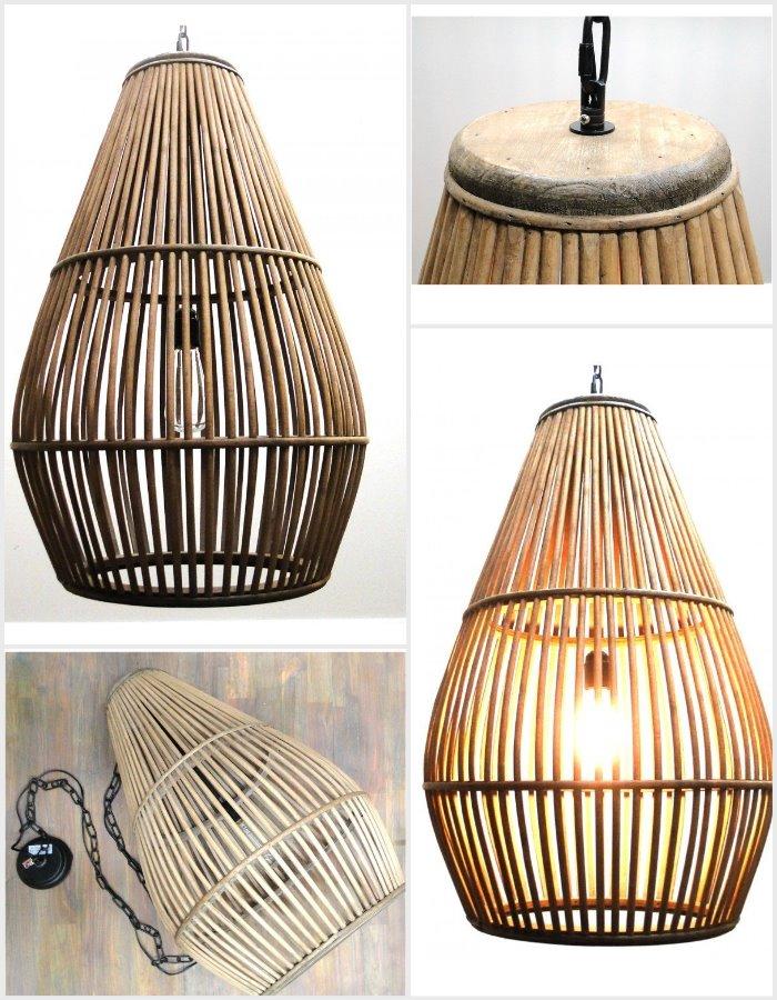 vintage bamboo danish ceiling light