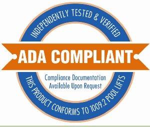 ADA compliance handicap pool lift sign