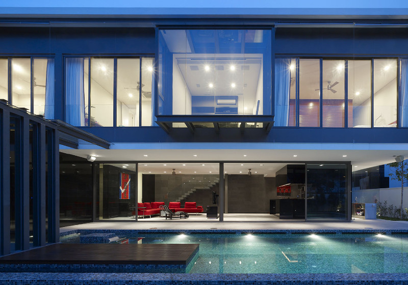 full front view of a singaporean designer house