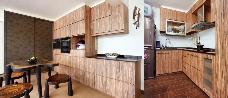 renovated kitchen in a HDB flat sinapore