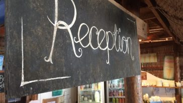 Reception sign at new Papa Pippo Italian Restaurant Cambodia