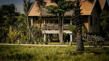 green village by AW2 architecture - Khmer house architect