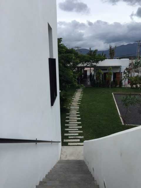 pathway toward the reception of Pippali resort