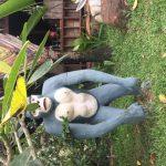 Gorilla statue in cambodia remote resort