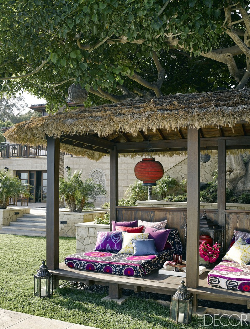 bali style bedroom for outdoor