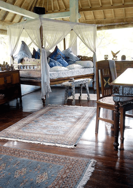 beautiful traditional indonesian bedroom decor with so much space
