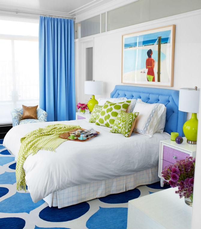 brightly lit small bedroom decor idea
