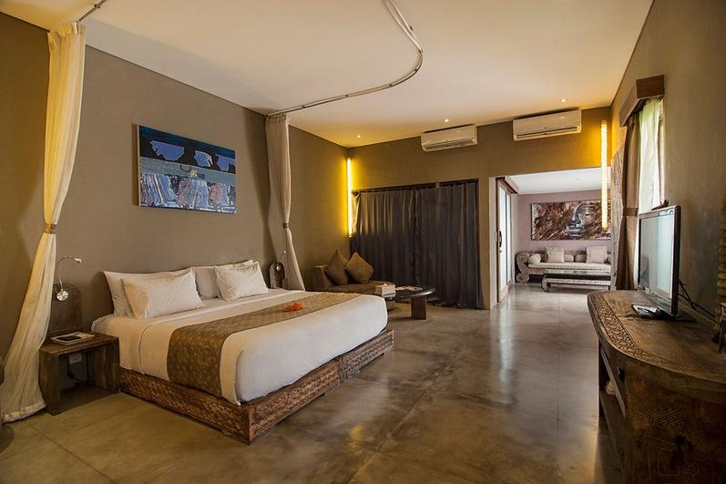 interior large Balinese bedoom decor in modern world