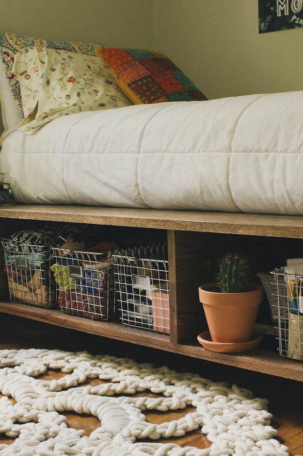 diy platform bed king size