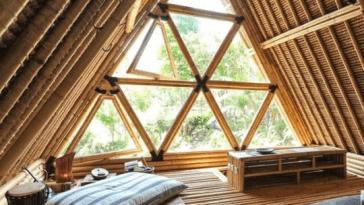 sleeping in an indonesian tree house