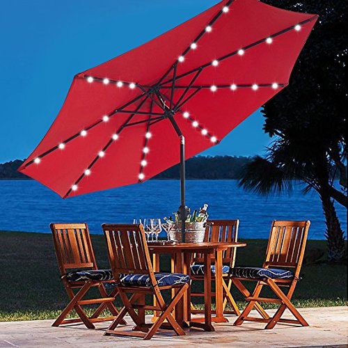 the cheapest patio umbrella with LED solar light