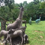 wild animal statues in a field of picnic resort cambodia
