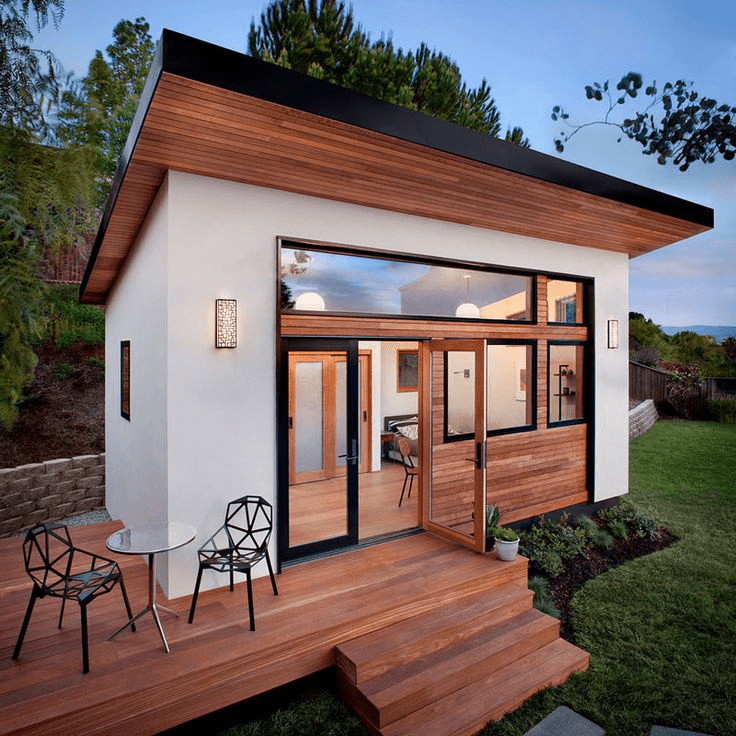 beautiful wooden prefabricated building for living in