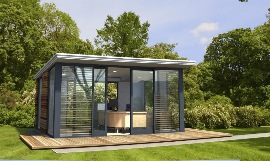 full glass container prefab office